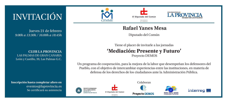 Tarjeta invitacion Jornadas Mediacion Presente y Futuro